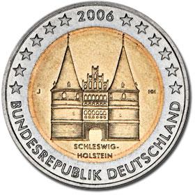 2 euro munze schleswig holstein 2006 wert